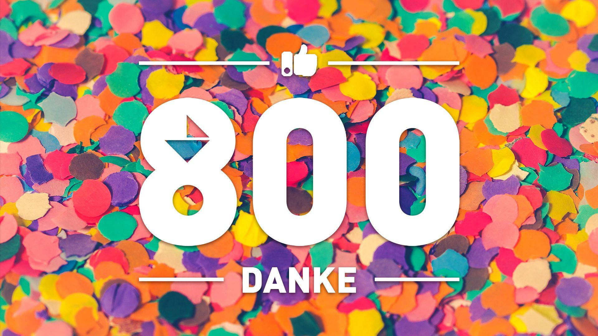 800 Likes auf Facebook